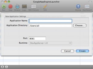 Adding a new application to AppEngine Launcher